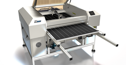 Laser cutting machine shuttle bed